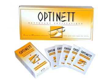 40 Optinett Wipes (4 x Packs of 10)